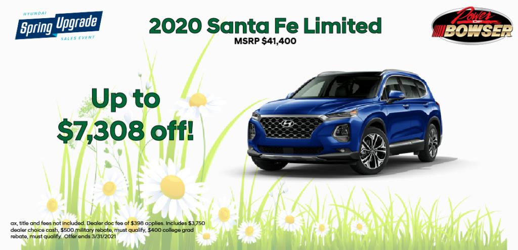 2020 Santa Fe Special Offer