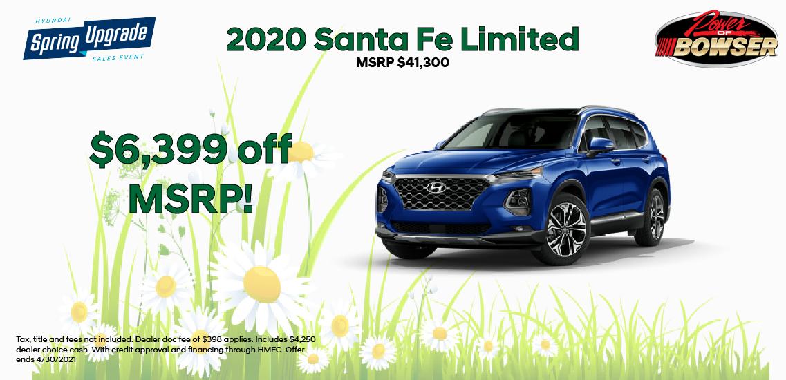 2020 Santa Fe Limited Special Offer