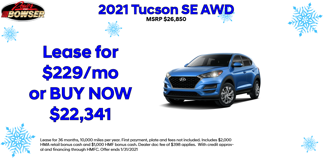 Jan 2020 Tucson Special Offer