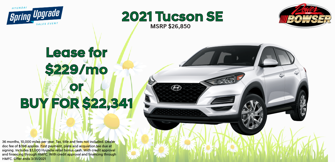 2021 Tucson Special Offer