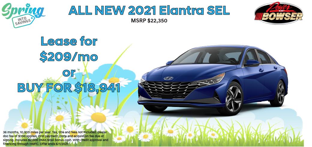 2021 Elantra Special Offer