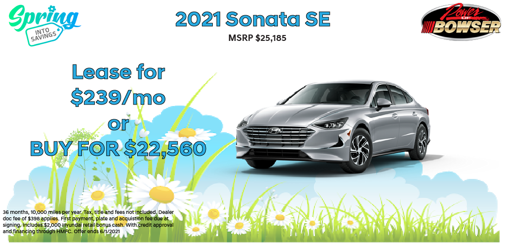 2021 Sonata Special Offer