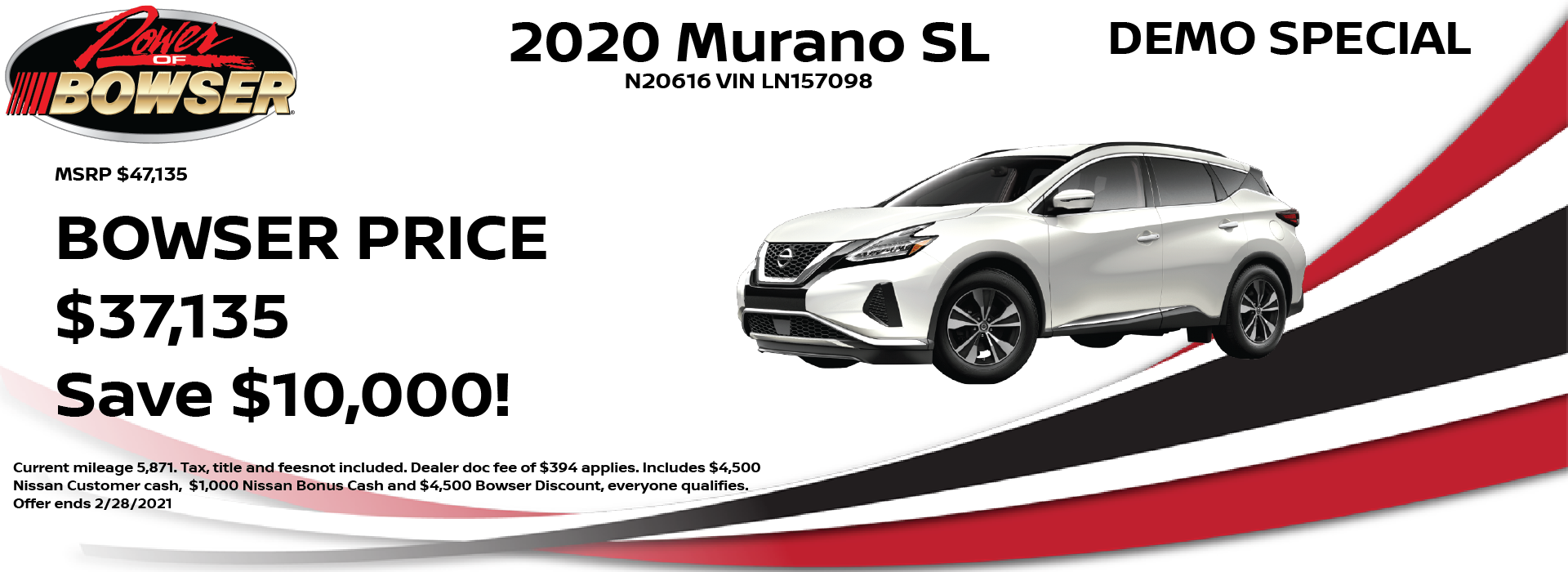 2020 Murano Special Offer