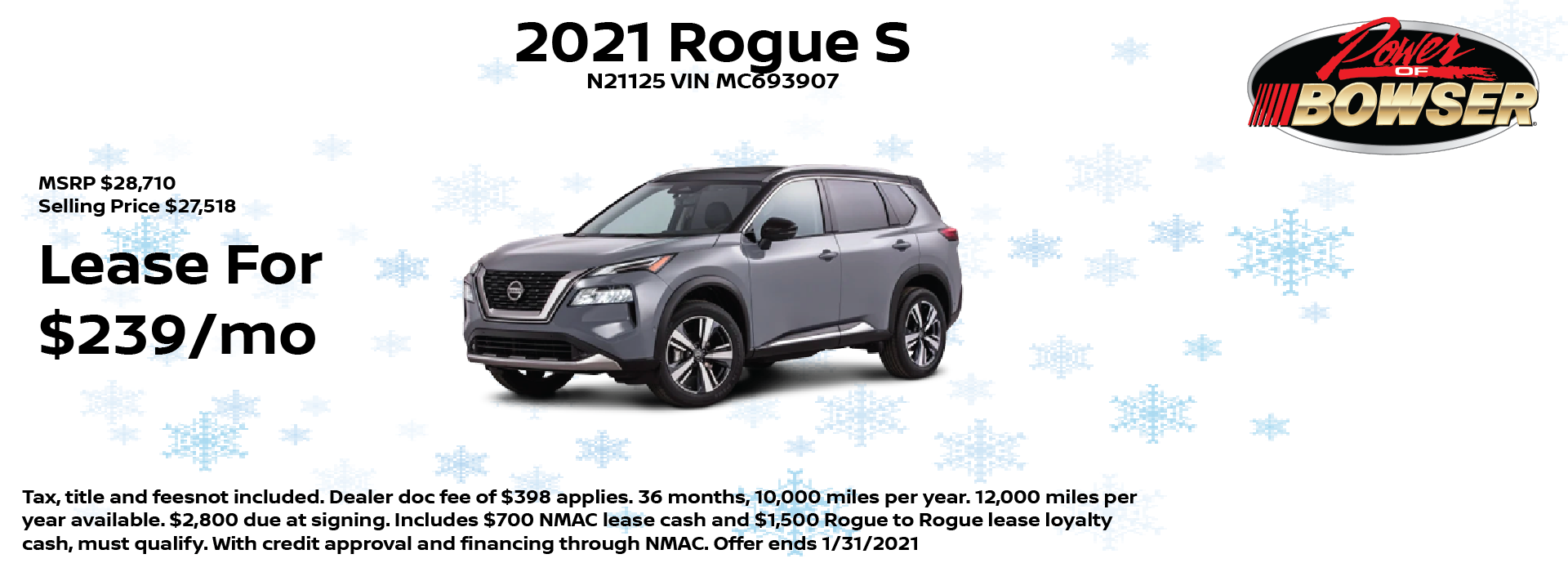 2021 Rogue Special Offer
