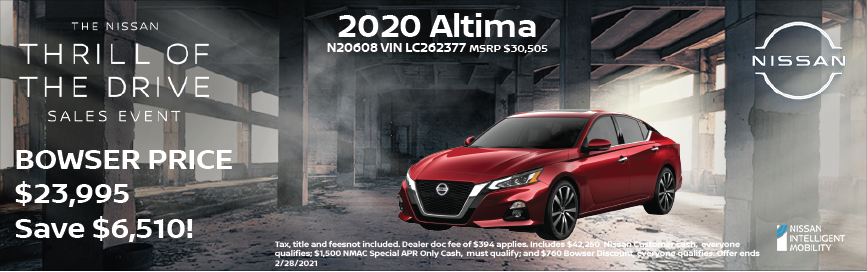 2020 Altima Special Offer