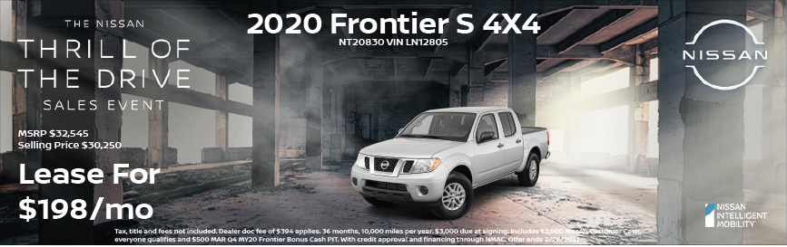 2020 Frontier Special Offer