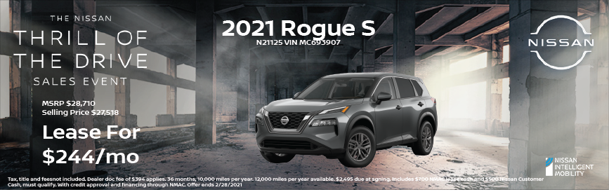 2021 Nissan Rogue S Special Offer