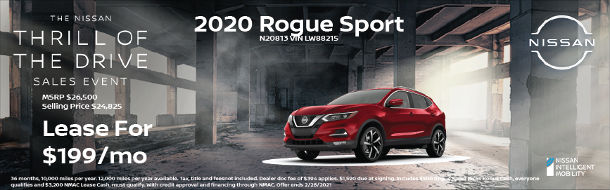 2020 Rogue Sport Special Offer