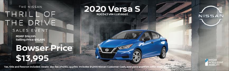 2020 Versa Special Offer