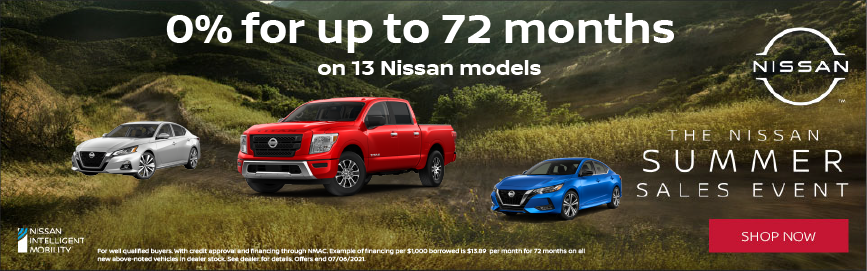 0% APR on Nissan models