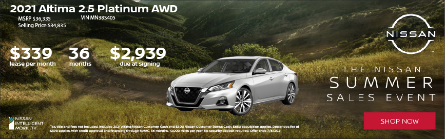 2021 Nissan Altima Lease Offer