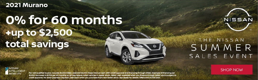 2021 Nissan Murano Special Offer