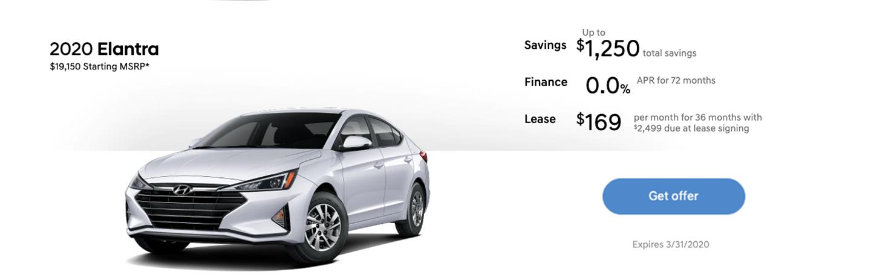 Hyundai Elantra Lease Price Special in Auburn, WA