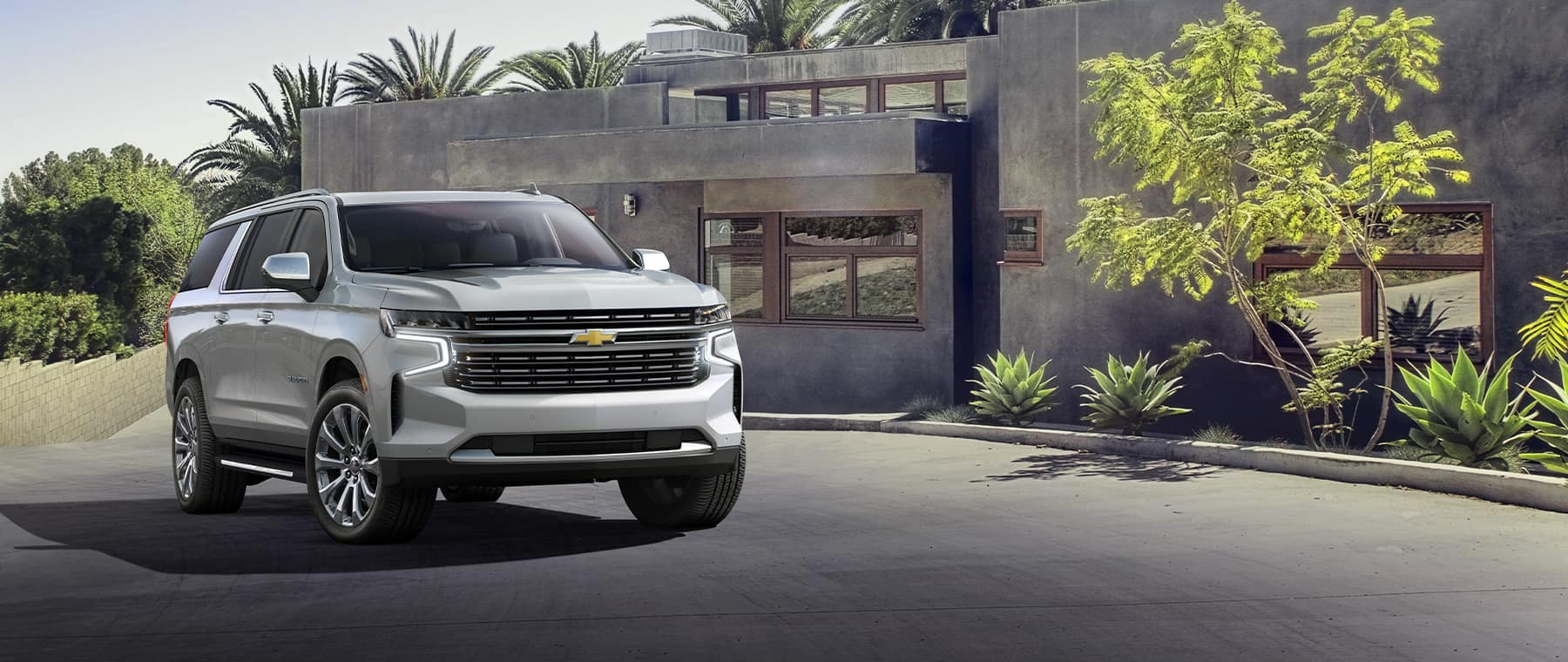 2021 Chevrolet Suburban in front of home