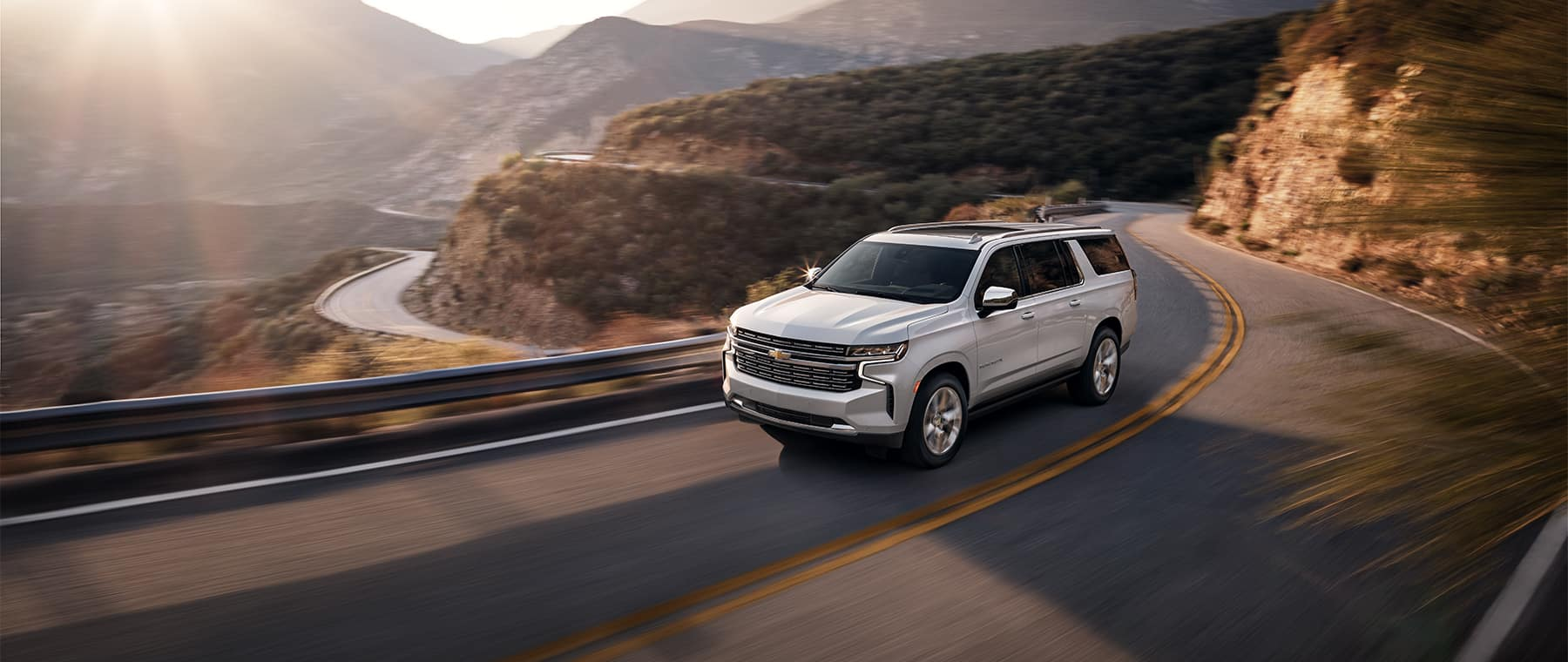 2021 Chevrolet Suburban driving on road