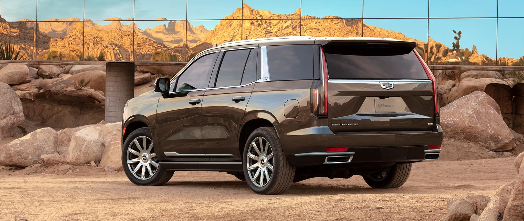 2021 Cadillac Escalade with mountain reflection