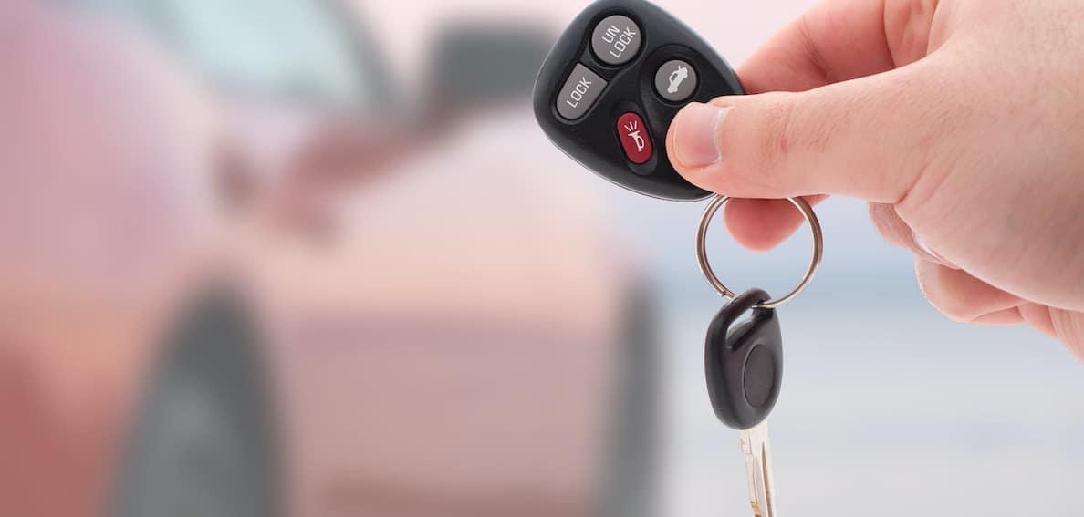 man getting keys