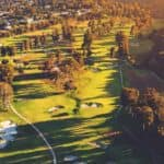 A overview of one of many country clubs near Indiana, PA.