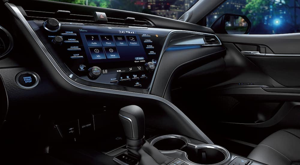 The Entune system in a 2019 Toyota Camry is shown.