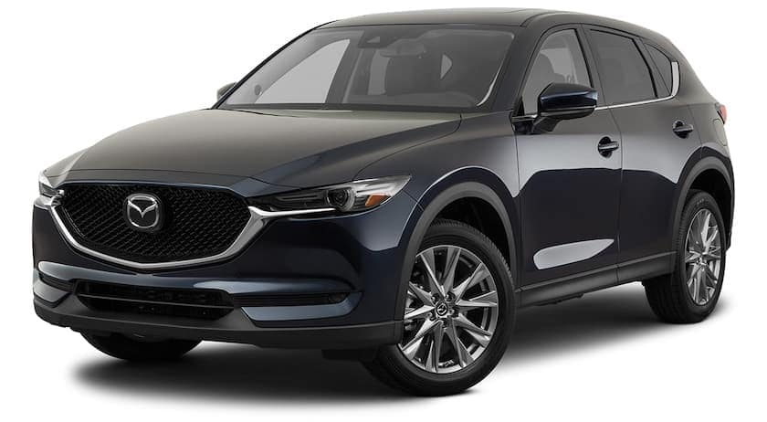 A black 2021 Mazda CX-5 is angled left.