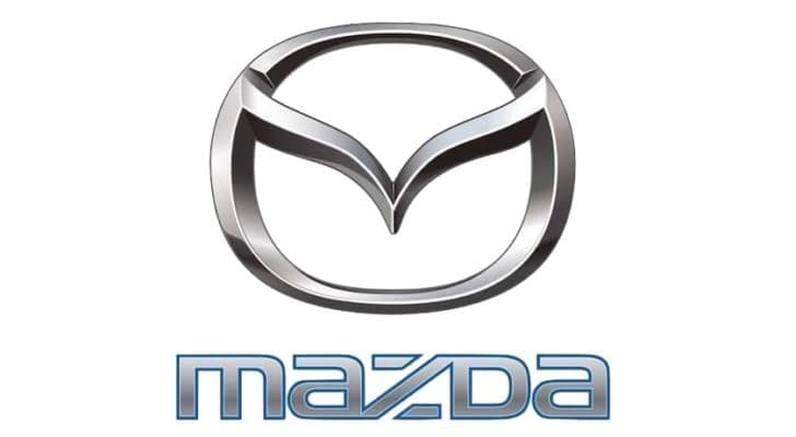 The mazda logo is shown against a white background.