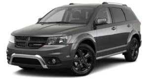 A dark gray 2020 Dodge Journey is angled left.