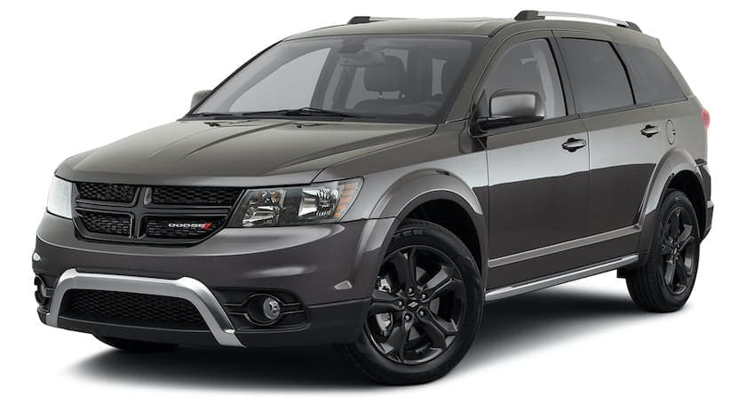 A dark gray 2020 Dodge Journey is angled left.