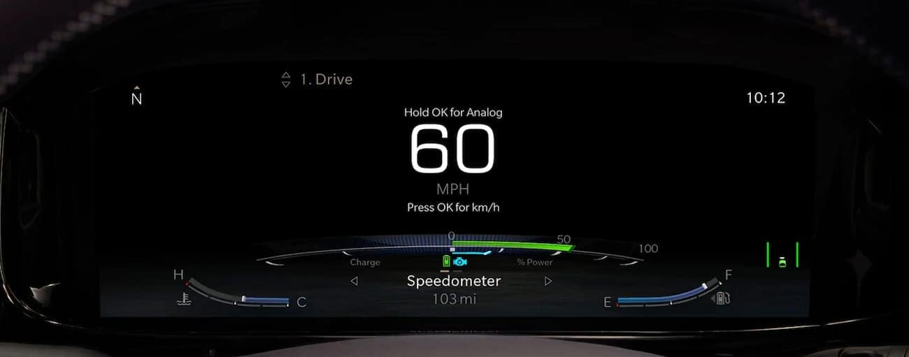 The digital gauge is shown in a 2022 Wagoneer, displaying 60mph.