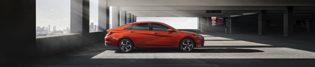 Hyundai Elantra Red Side View