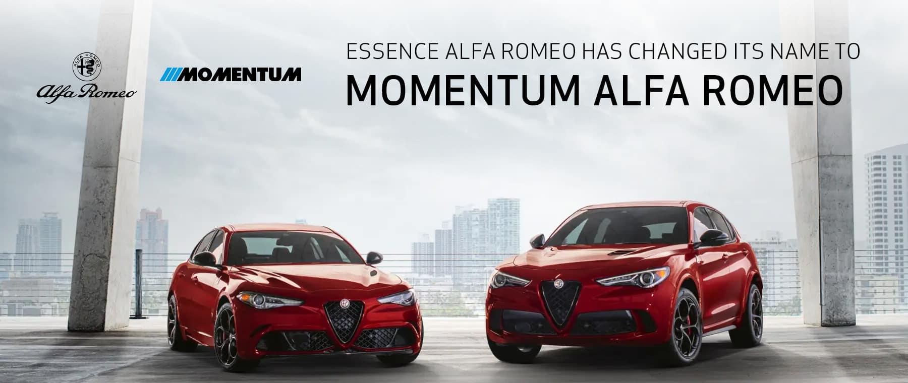 Essence Alfa Romeo has changed its name to momentum alfa romeo