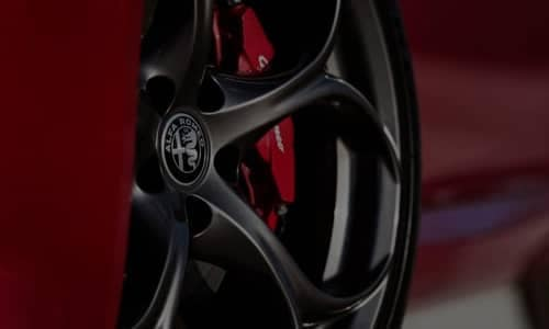 Alfa Romeo Close up of wheel