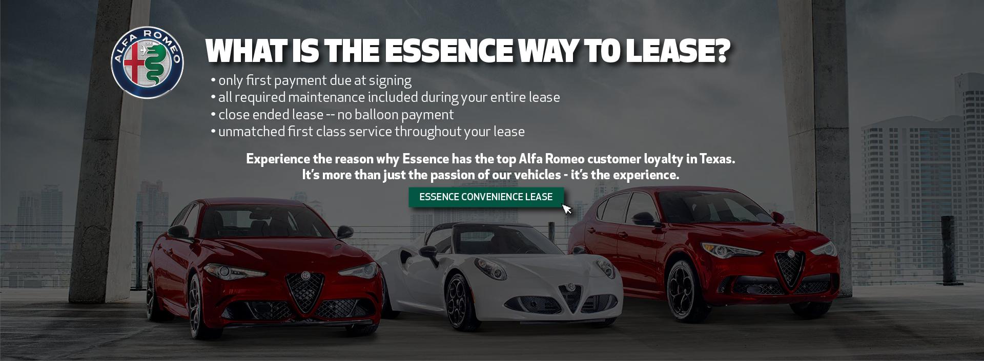 Essence Alfa Romeo – Lease 2021