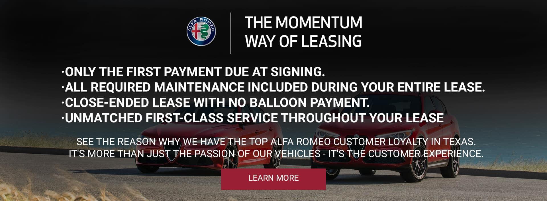 Momentum Way of Leasing