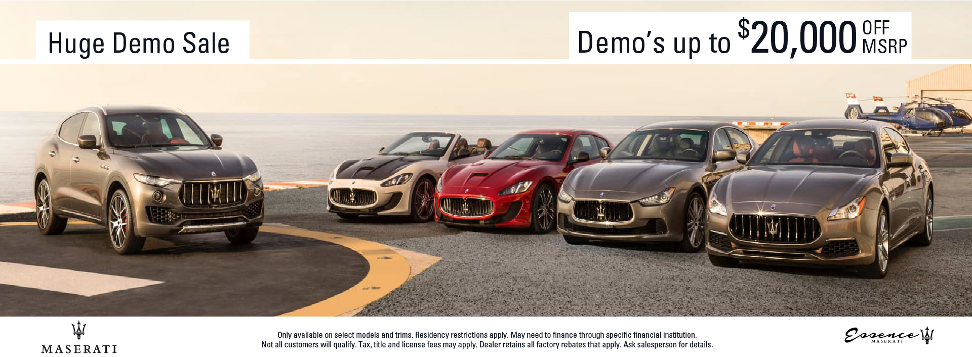Maserati Demo Sale Juy Retooled