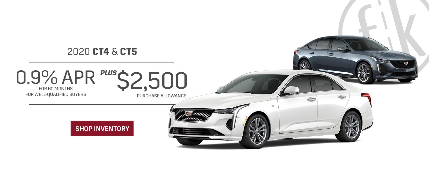 0.9% for 60 mos PLUS $2,500 Purchase Allowance 2020 CT4 & CT5
