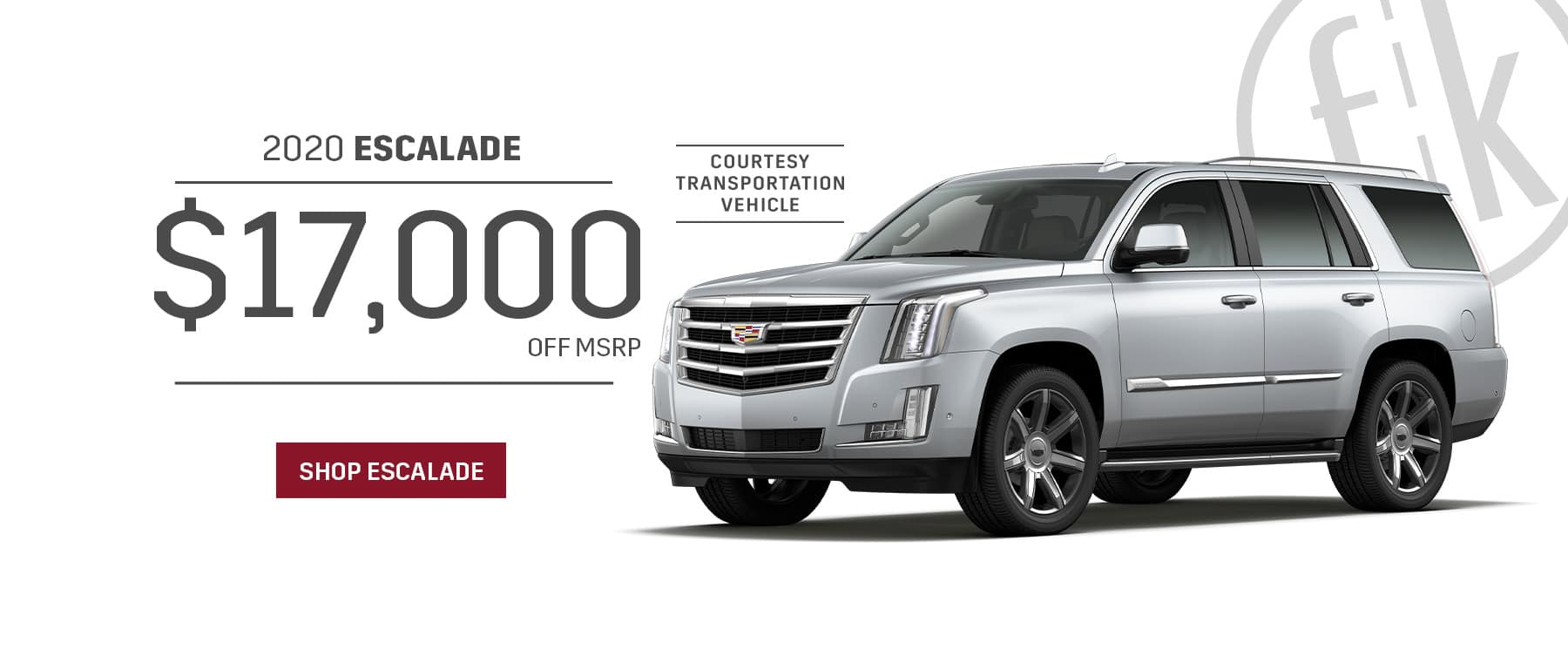 $17,000 Off 2020 Escalade Retired Loaners