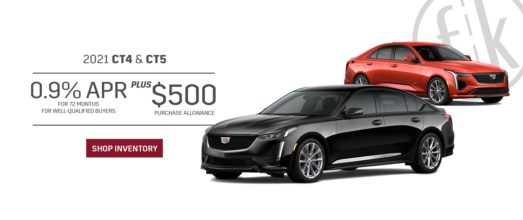 2021 CT4 & CT5 0.9% for 72 mos PLUS $500 Purchase Allowance