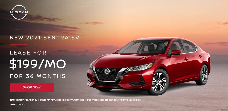 2021 Nissan Sentra SV $199 Per Month/36 Months