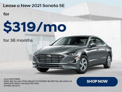 2021 Hyundai Sonta for $319 a month