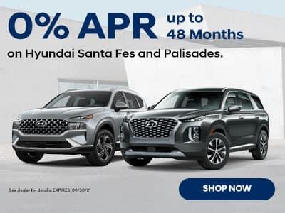 Hyundai Santa Fes and Palisades