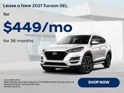 2021 Tucson for $449 a month