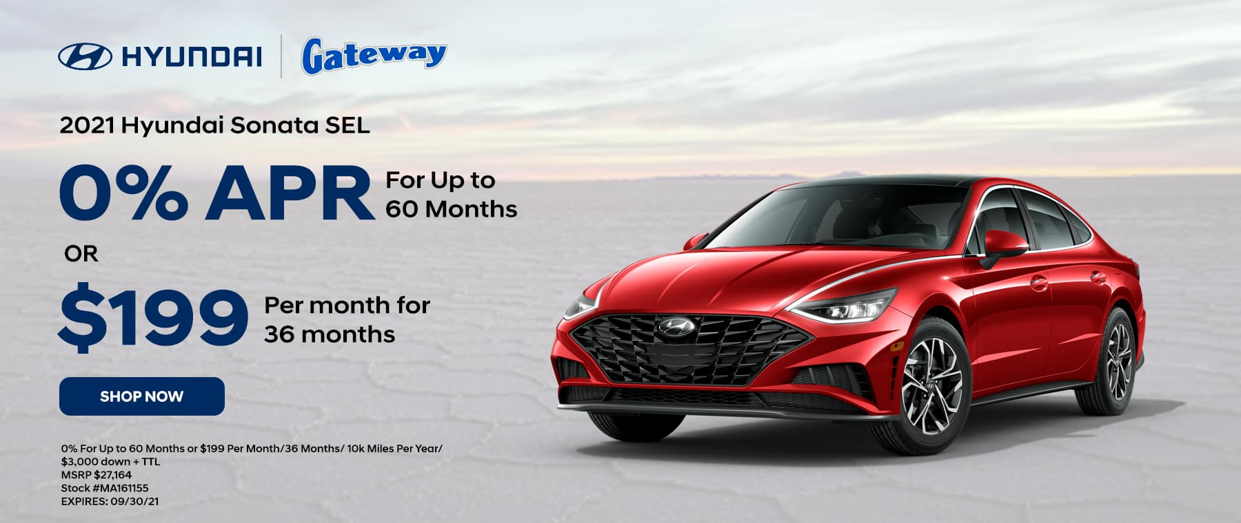 2021 Hyundai Sonata 0% For Up to 60 Months or $199 Per Month for 36 Months