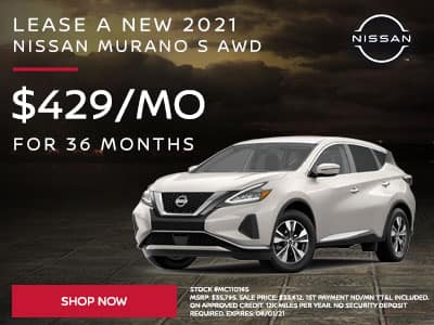Lease a New 2021 Nissan Murano S AWD SUBTEXT For $429 a month for 36 months