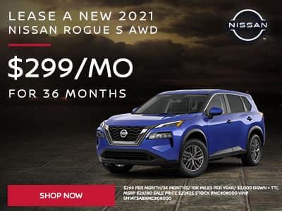 2021 Nissan Rogue S AWD $299 Per Month/36 Months