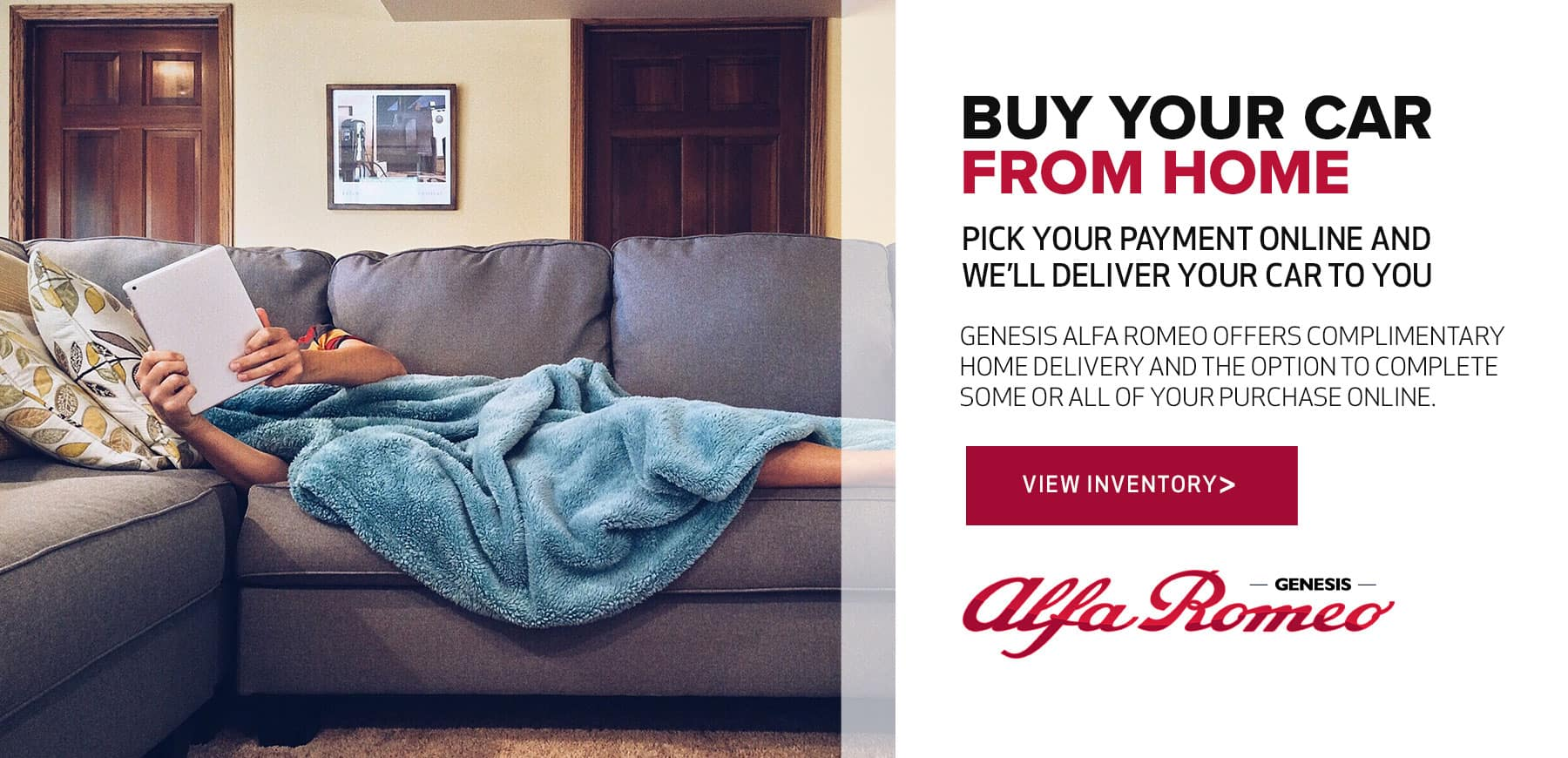 Shop from home with Genesis Alfa Romeo