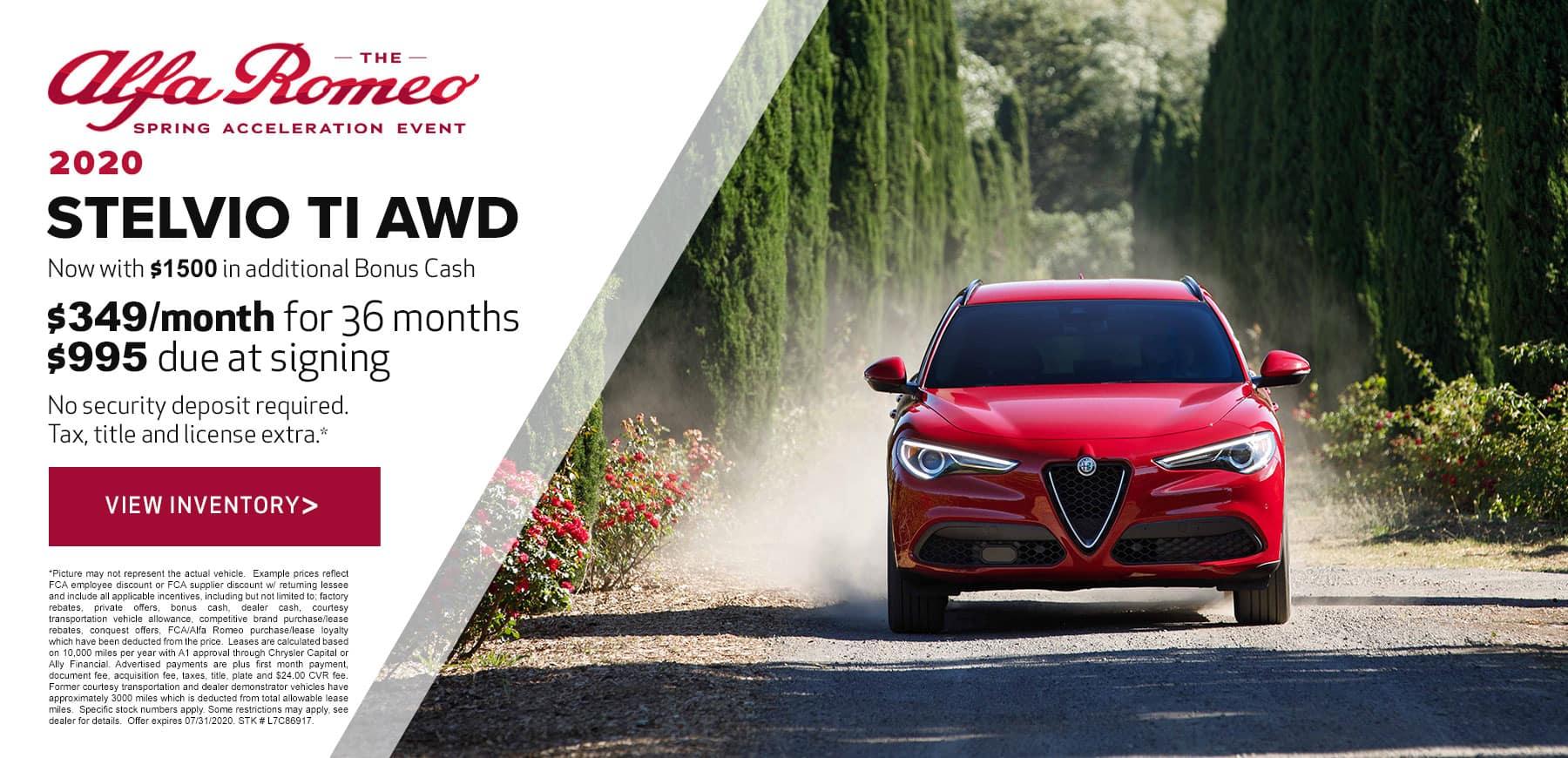 Genesis Alfa Romeo July 2020 Stelvio Lease Offer
