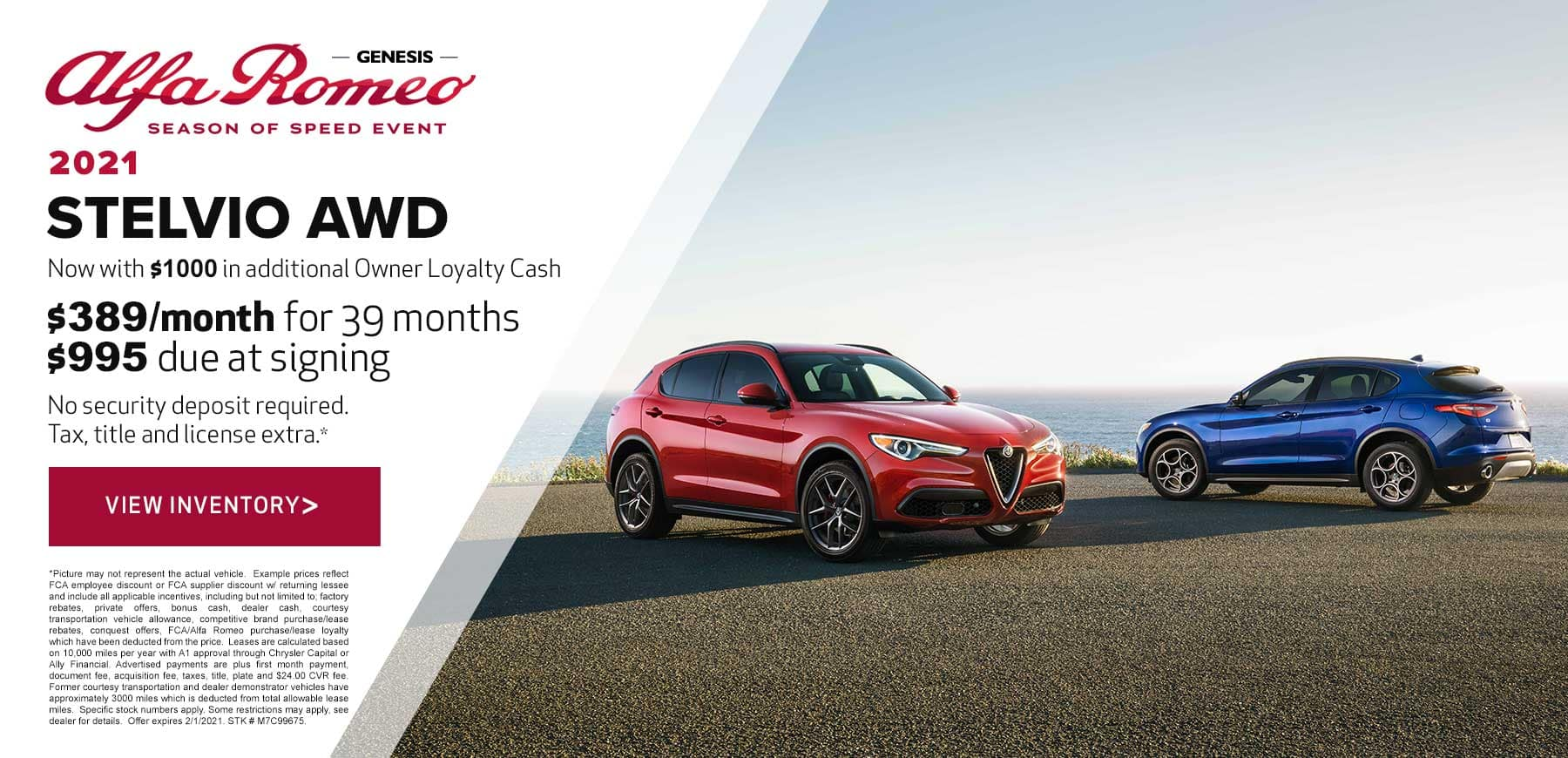 Genesis Alfa Romeo January 2021 Stelvio Lease Offer