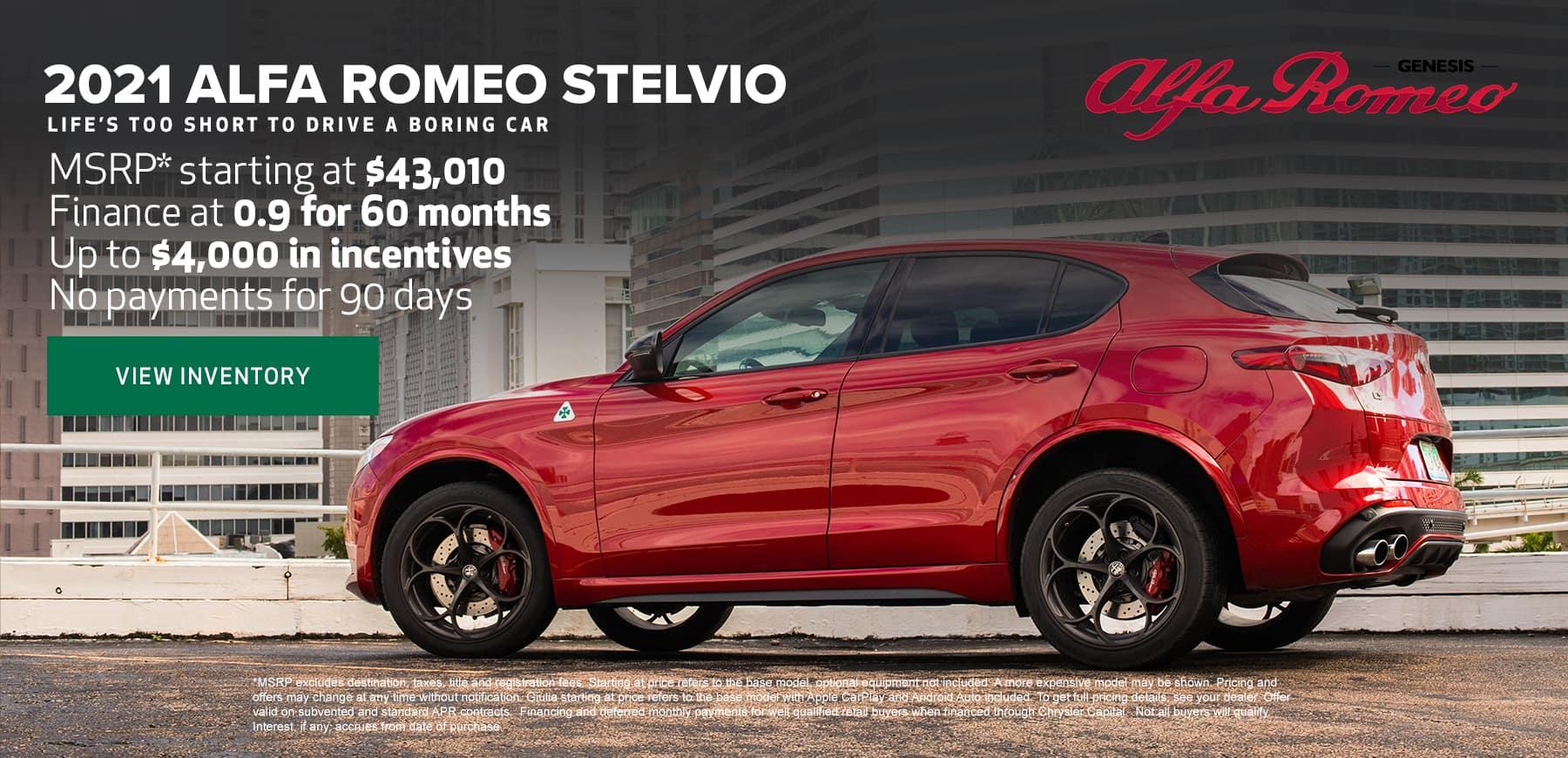 Genesis Alfa Romeo Stelvio Deals