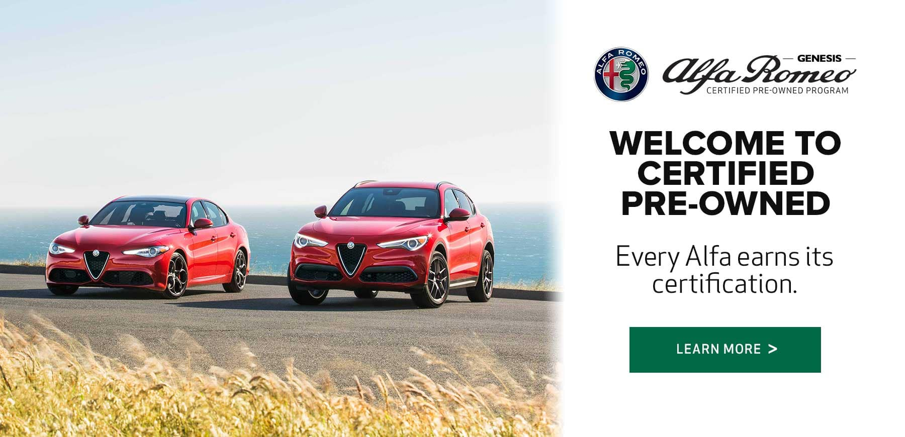 Genesis Alfa Romeo Certified Pre-Owned Program