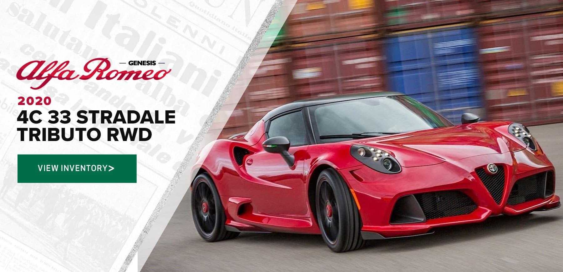 Alfa Romeo 4C for sales at Genesis Alfa Romeo in Macomb, MI